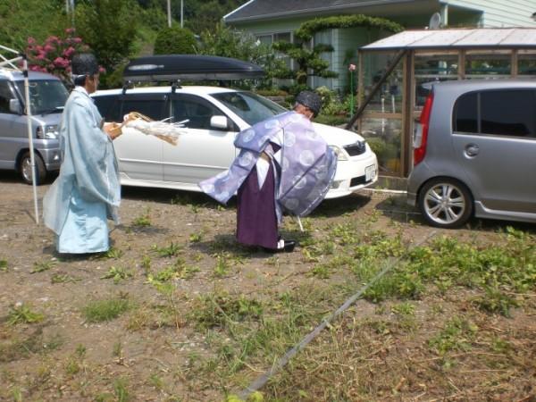 静岡県富士宮市星山W様邸 地鎮祭を執り行いました
